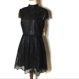 FOREVER 21 BLACK LACY PARTY DRESS SIZE MEDIUM NWT